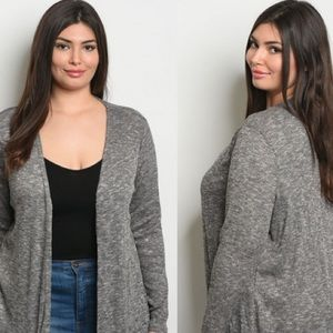 Forever 21+ Grey Cardigan